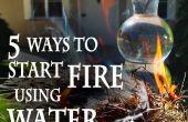 5 formas de iniciar un fuego, con agua