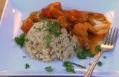 Curry de patata dulce limoncillo - vegano y libre de Gluten