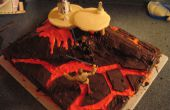 Torta de Star Wars (Mustafar)