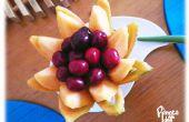 Cómo tallar una cesta de flores de melón