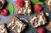 Brownies de Tahini libre Gluten vegano sano