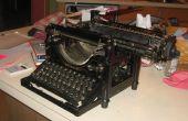 Cómo utilizar una máquina de escribir
