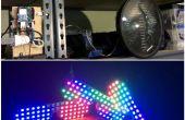 Soporte pedal alerta con Scroller estadísticas, utilizando Arduino Yun