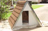 Construir una caseta de perro uno-marco aislado para menores $75