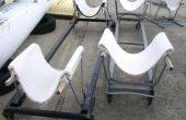 Hacer barco cuna dollys de retazos de alfombra, sillas del Metal, o carros de compras