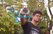 Banco de energía solar de 5 $ de batería portátil reciclado