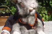 Mal conejo blanco/juguete de la marioneta