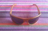 BRICOLAJE gafas de sol de madera con chapa