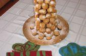 Croquembouche (torre de hojaldre la crema)
