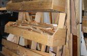 Estante del almacenaje de madera móvil flexible con paletas