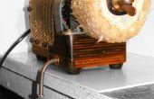 Steampunk Direct Drive Rotary pulido máquina accionada por Dyson con Retro 80s secreto