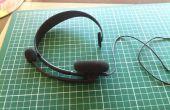 Molesta XBOX 360 auriculares Cables solución