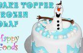 Frozen Olaf de muñeco de nieve Fondant Icing Cake Toppers