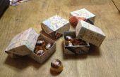 Caja del caramelo hecho de recuerdos mapas