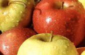 Rojo crujiente y amarillo caen manzanas