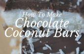 Cómo hacer Chocolate coco bares