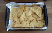 Al horno fritas de Tortilla de maíz - desde cero - receta fácil