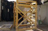 Torre de andamios de madera