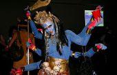Diosa de seis brazos Kali traje