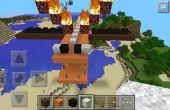 Cómo hacer una casa fácil de dragón volador en Minecraft