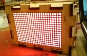 Hacer una caja para su 16 x 24 HT1632C LED Matrix - hecho en TechShop