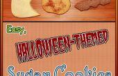 Fácil temática de Halloween galletas de azúcar