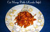 Corte el Mango Pickle (estilo de Kerala)