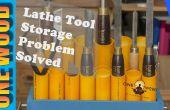 Trabajo con torno torno herramienta almacenamiento problemas resueltos en este video de proyecto de carpintería fácil