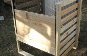 Compostera de marco de madera