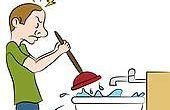 4 maneras para liberar a su fregadero de cocina de zuecos