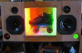 Personalización de bicicletas con DanceSkateLive sistema de sonido para un artista local de calle