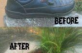 Cómo cambiar una vieja zapatos en una maceta (fácil)