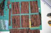 Postales de fibra - corteza de árbol