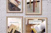 Reciclar pata de silla taburete falla