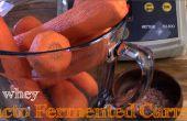 No Lacto suero fermentado zanahorias ralladas