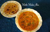 Methi Malai Aloo (patata en la alholva y crema)