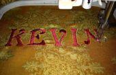Cómo bordar letras en una máquina de coser del bordado