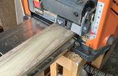 Corte áspero de la madera