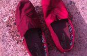 DIY zapatos de lona rústica