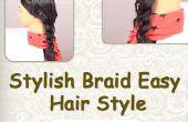 Peinado fácil trenza elegante