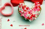 Tortas de la taza de San Valentín