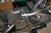 Cambio Shimano pedalier teniendo en bicicleta