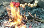 Rastrillo de pinchos y cerveza de raíz marinado Ribeyes