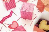 CAJAS de regalo para imprimir – patrón de corazón