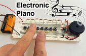 Piano electrónico simple
