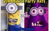 Sombreros fiesta DIY Minion y centro de mesa