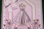Cómo hacer un Decoupage con estilo de vestido lila de 8 pulgadas movible de la tarjeta de &