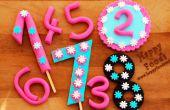 Cómo hacer Fondant números para pastel