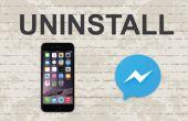 Eliminar messenger de Facebook en la aplicación móvil
