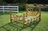 Rustic Bed Frame - Queen Size